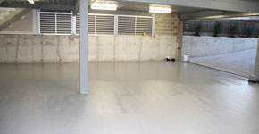 Garage repair and textured coating