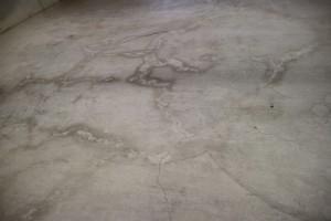 garage floor before repair and coating